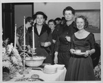 Huntington Women's Club October meeting, 1954